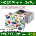 送料無料・フルーツギフトボックス いろどりパレットロイヤル 325×225×150mm「40個」