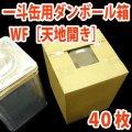 天地開き・一斗缶用ダンボール箱WF(紙厚8mm) 249×249×353mm 「40枚」 ※要2梱包分送料