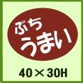 送料無料・販促シール「ぶち 安い」40x30mm「1冊750枚」