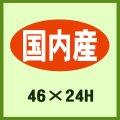 送料無料・販促シール「国内産」46x24mm「1冊1,000枚」 ※※代引不可※※