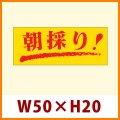 送料無料・販促シール「朝採り!」50x20mm「1冊1,000枚」