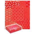 送料無料・包装紙 千代紙合わせ 赤 530×770mm 「50枚」 ※代引き不可
