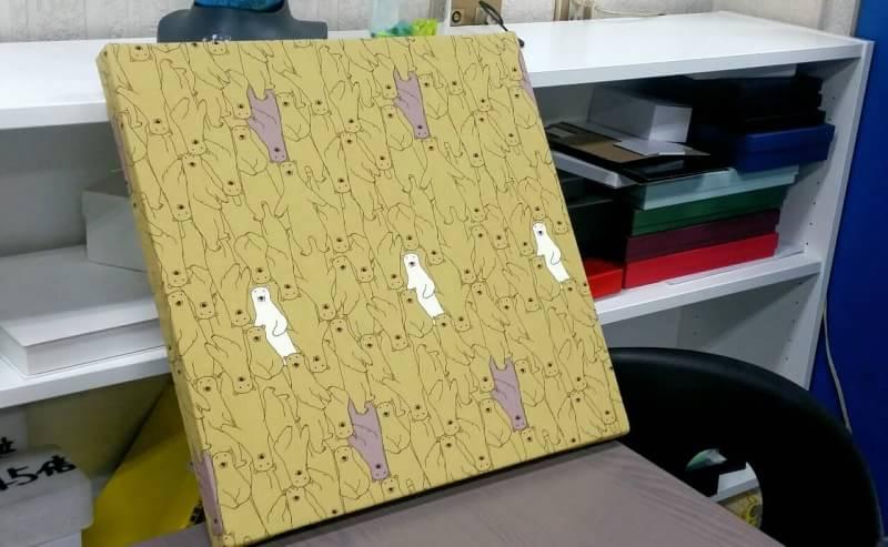 発泡スチロール製ファブリックボード