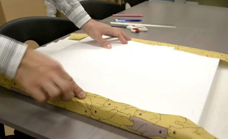 発泡スチロール製ファブリックボード作成手順