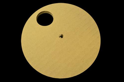 「円形」デザインカット(素材:ダンボール8mm厚)