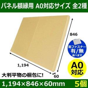 画像1: パネル額縁用・かぶせ式ダンボール箱 A0対応サイズ1,194×846×60mm「5個」