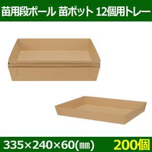送料無料・苗用段ボール 苗ポット12個用トレー 335×240×60(mm)「200個」