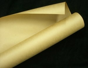 画像1: 75gクラフト紙茶紙900mm×30M 「1本」包装紙・型紙/両更クラフト 【区分B】
