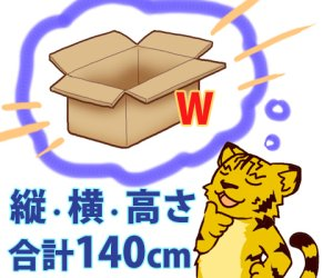 画像1: セミオーダー[WF]ダンボール箱 3辺合計140cmまで 「20枚」