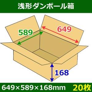 画像1: 送料無料・浅形ダンボール箱 649×589×168mm (160サイズ対応) 「20枚1セット」