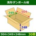 送料無料・浅形ダンボール箱 504×349×248mm (120サイズ対応) 「30枚1セット」
