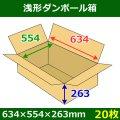 送料無料・浅形ダンボール箱 634×554×263mm (160サイズ対応) 「30枚1セット」