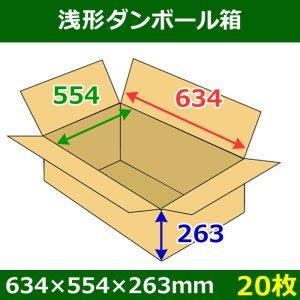 画像1: 送料無料・浅形ダンボール箱 634×554×263mm (160サイズ対応) 「20枚1セット」