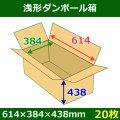 送料無料・浅形ダンボール箱 614×384×438mm (160サイズ対応) 「30枚1セット」