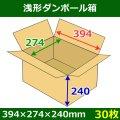 送料無料・浅形ダンボール箱 394×274×240mm (100サイズ対応) 「30枚1セット」