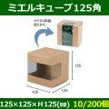 送料無料・ドリップバッグ用ケース ミエルキューブ125角 125×125×H125(mm) 「10/200個」