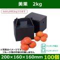 送料無料・手提宅配兼用 フルーツ用ギフトボックス  美果 2kg   200×160×160(230)mm「100個」