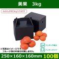 送料無料・みかん用ギフトボックス  美果 3kg   250×160×160(230)mm「100個」