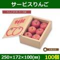 送料無料・りんご用ギフト箱 サービスりんご 250×172×100(mm) 「100個」【在庫なくなり次第、終売】