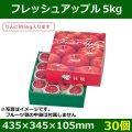 送料無料・りんご用ギフトボックス  フレッシュアップル5kg   435×345×105mm「30個」