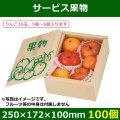 送料無料・フルーツ用ギフトボックス サービス果物 250×172×100mm「100個」