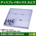 送料無料・フルーツ用陳列棚   ディスプレイボックス ぶどう   540×590×65mm「40個」