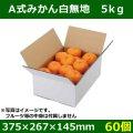 送料無料・フルーツ用外箱(宅配箱)A式みかん白無地 5kg「60個」