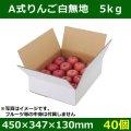 送料無料・フルーツ用外箱(宅配箱)A式りんご白無地 5kg「40個」