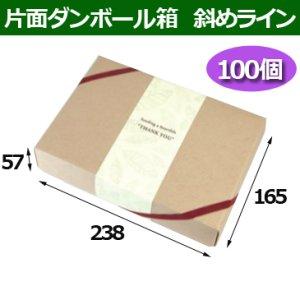 画像1: 送料無料・片面ダンボールギフト箱 238×165×57mm「10枚から」斜めライン