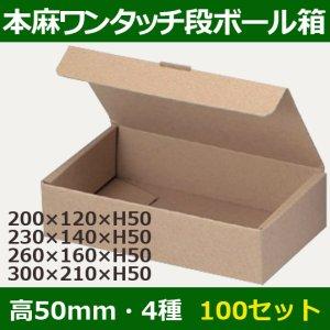 画像1: 送料無料・ワンタッチ組立ダンボールギフト箱200×120×高50mm他全4サイズ「100枚」
