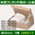 送料無料・ワンタッチ組立ダンボールギフト箱200×140×高65mm他全5サイズ「100枚」