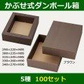 送料無料・かぶせ式ダンボール箱「ブラウン」290×220×85(mm)全5種「100セット」