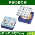 送料無料・菓子用ギフト箱 季節の贈り物 端午の節句 160×160×70(47)(mm) 「100個」選べる全2種