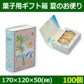 送料無料・菓子用ギフト箱 夏のお便リ 170×120×50(mm) 「100個」