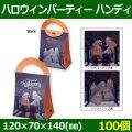 送料無料・お菓子用資材 ハロウィンパーティ ハンディ 120×70×140(mm) 「100個」