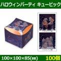 送料無料・お菓子用資材 ハロウィンパーティ キュービック 100×100×85(mm) 「100個」