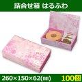 送料無料・菓子用ギフト箱 詰合せ箱 はるふわ 260×150×62(mm) 「100個」