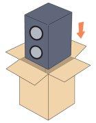 他の写真1: スピーカー梱包セミオーダーメイドダンボール箱(WF紙厚8mm)セット 「2台分」3辺合計170cmまで対応※個人宛配送不可  【大型】