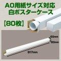 送料無料・A0(1,189×841mm)対応 白ポスターケース「80枚」 60×60×長さ:917(mm)