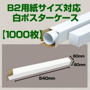 画像1: 送料無料・B2(728×515mm)対応 白ポスターケース「1,000枚」 60×60×長さ:540(mm)