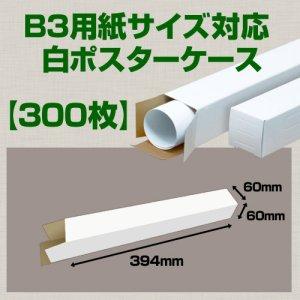 画像1: 送料無料・B3(515×364mm)対応 白ポスターケース「300枚」 60×60×長さ:394(mm)