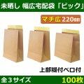送料無料・未晒し(茶)クラフト 幅広宅配袋 全3種「100枚」