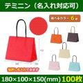 送料無料・手提袋ハンディーバッグ テミニン 幅180×マチ100×丈150mm 「100枚」全6色