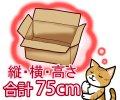 セミオーダーダンボール箱 3辺合計75cmまで 「20枚」