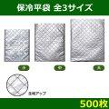 送料無料・保冷平袋「500枚」全3サイズ