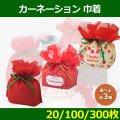送料無料・不織布ラッピング袋 カーネーション 巾着 104×120×120(mm)ほか 「20〜300枚」選べる全3種