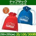 送料無料・不織布ラッピング袋 ナップサック フライングこいのぼり柄 250×255(mm) 「20/100/300枚」選べる全2色