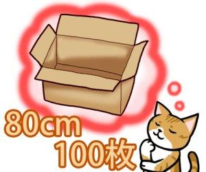 画像1: セミオーダーダンボール箱 3辺合計80cmまで 「100枚」