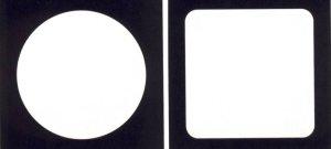 画像1: 送料無料・0.5mm厚・白無地コースター「100枚」