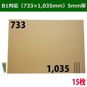 画像1: ダンボール板/B1サイズ対応 733×1,035mm・5mm厚 「15枚」